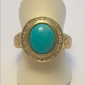 Jewelry - Sleeping Beauty Turquoise Ring 18K Silver RARE NEW